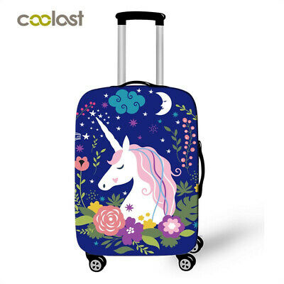 Unicorn Protective Covers For Suitcase Cartoon Luggage Cover Elastic Case Girls