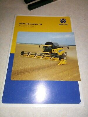 new holland cr combines sales brochure  26 pages