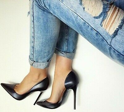 c40f1d8bef8 ZARA ASYMMETRIC COURT Shoes Fashion Blogger Suede Pointed Toe Heels ...