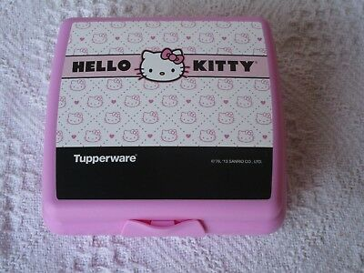 Tupperware Hello Kitty Sandwich keeper school lunches Pink Black white, NEW
