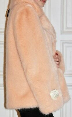 cb41bbc68b2e STELLA MC CARTNEY Fake Fur Jacke Faux Pelzjacke rosa Gr. 42 NEU NP 780€  vegan