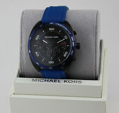 2c3ece8e5907 New Authentic Michael Kors Dane Black Blue Chronograph Men s Mk8612 Watch