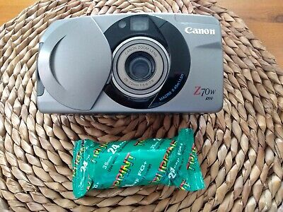 Canon Sure Shot Z70w 35mm film Camera. Good condition. Flash and drive tested.