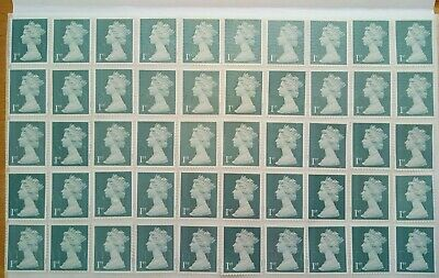 50 x 1st Class Silver Security Stamps First. Unfranked off Paper with Gum..