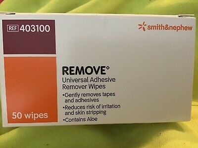 1 box of universal adhesive remover wipes