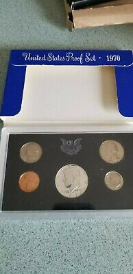 1970 United States Treasury 5 Coin Proof Set S Mint Rare Dime