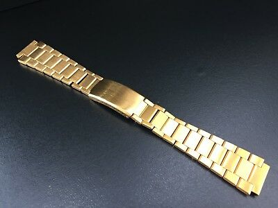 """Armis/Bracelet Watch Gold Plated Type Omega 18Mm """"New Old Stock 1970"""""""