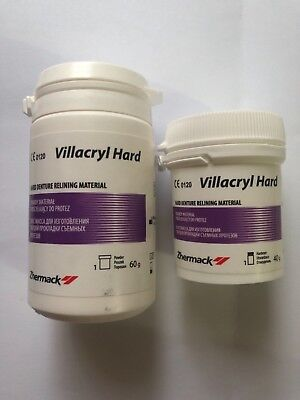Dental hard relining material 100 g powder + 50ml Zhermack exp:03/2020