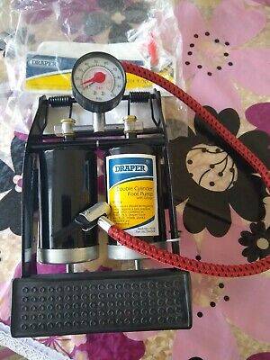 Double Cylinder Foot Pump 100psi Tyre Inflator Bike Bicycle Car Inflatable