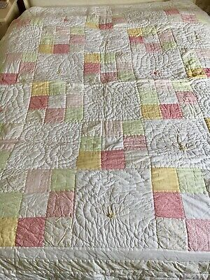 The Little White Company Patchwork Quilt 100% Cotton - size single - RRP £165