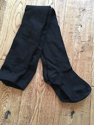 Girls tights black with silver sparkles size 8 years