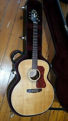 Musical Instruments & Gear Acoustic Electric Guitars Reduced Flagship Guild Westerly Usa Electro Acoustic Guitar F65ce Late 90s Case