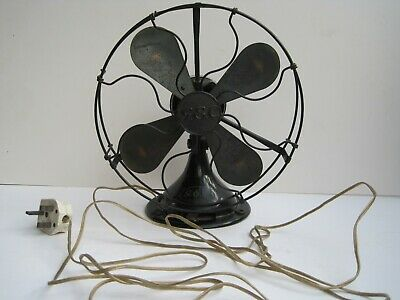 Antique Vintage Art Deco Desk FAN General Electric Company GEC  2 Speed  WORKING