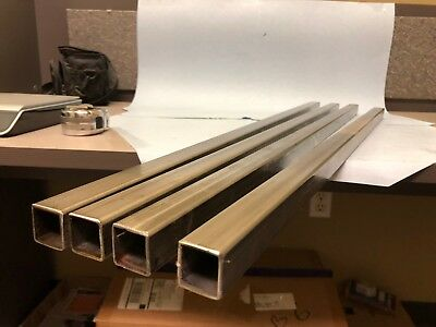 "Lot of 4 pcs 1"" Stainless Square Tube x 1/16"" wall x 33"" to 36"" long"