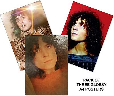 Marc Bolan Three Gloss A4 Full Colour Posters - Bolan Shrine Fundraiser