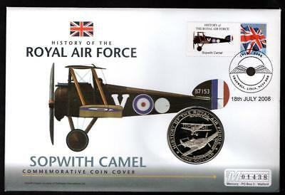 2008 One Dollar Coin And Stamp Cover Sopwith Camel