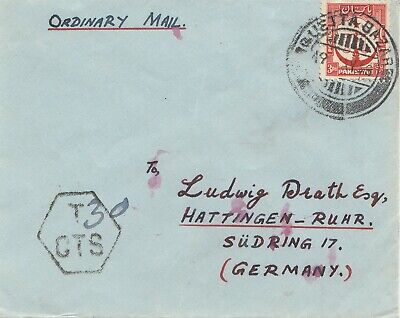 Pakistan 1936: Ordinary Mail Quetta to Hattingen/Ruhr - Germany