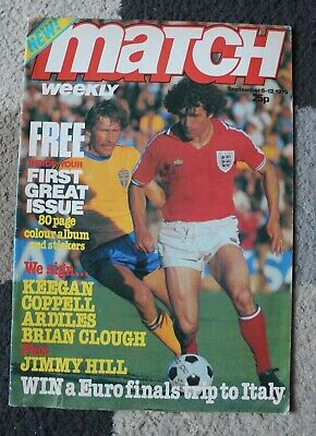 MATCH WEEKLY Football Magazine 6-12 September 1979 Vintage FIRST ISSUE 1st RARE