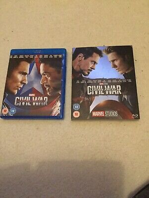 Captain America - Civil War Blu Ray With Collectible Sleeve
