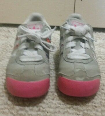 d43ce3857 Adidas Samoa Grey Pink Little Kids Athletic Running Shoes Girls Size US 2.5Y