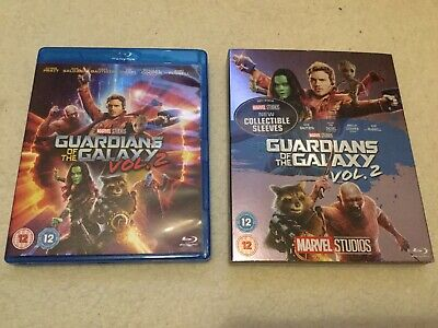 Guardians of The Galaxy Vol 2 Blu Ray With Collectible Sleeve