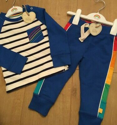 Little Bird By Jools Oliver Age 9-12 Months Rainbow Joggers & Striped Top Bnwt