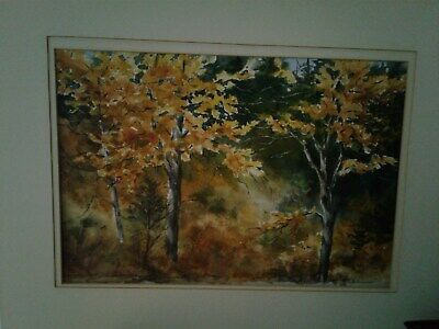 Canadian Artist, E. Bryon, Landscape, Fall Trees, 4 Paintings