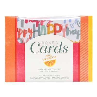 NEW American Crafts Amy Tangerine Happy Life Boxed Cards By Spotlight