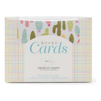 NEW American Crafts Dear Lizzy Happy Place Boxed Cards By Spotlight