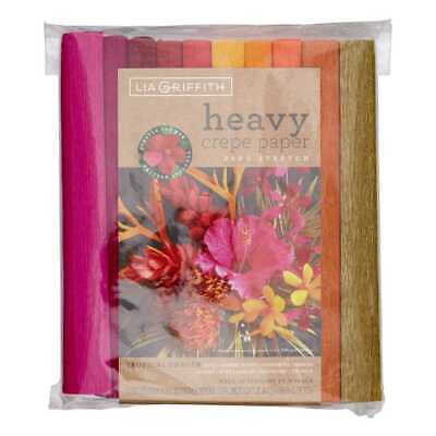 NEW Lia Griffith Tropical Garden Heavy Crepe Paper 10 Pack By Spotlight