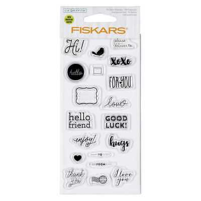 NEW Fiskars Lia Griffith Happy Mail Stamps By Spotlight