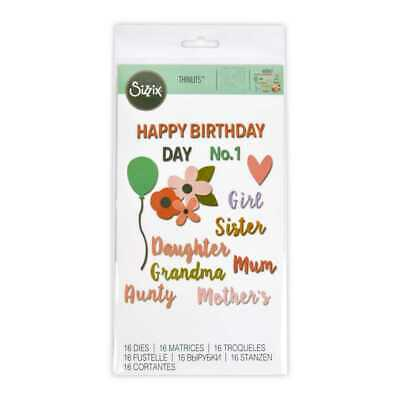 NEW Sizzix Thinlits Female Occasions Die Cut Set By Spotlight