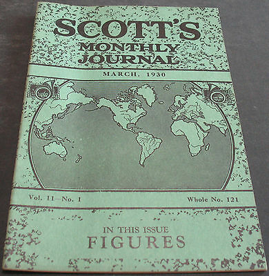 Scott's Monthly Journal March 1930 Figures + Scarce