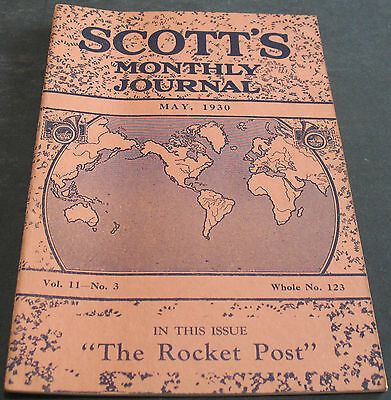 Scott's Monthly Journal May 1930 The Rocket Post + Scarce