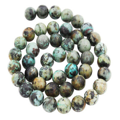 Natural African Turquoise Gemstone Round Loose Beads DIY Jewelry Making 8mm