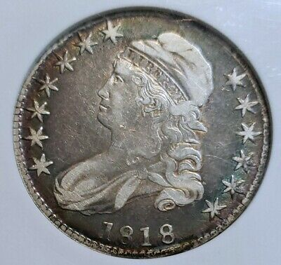 ~☆NICE☆~ VF-25 1818 Capped Bust Half Dollar NGC  Awesome date.