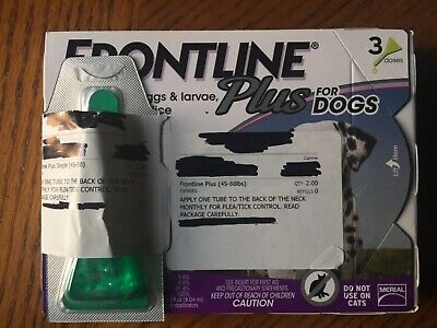 Merial Frontline Plus Flea and Tick Control for 45 to 88-Pound Dogs and Puppies,