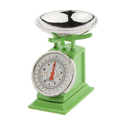 Doll House Miniature 1:12 Shop Accessory Country Store Weighing Scales Green