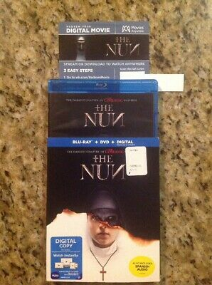 The Nun (Blu-ray+DVD+Digital, 2018) Authentic US Release