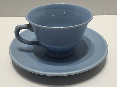 2PC Coffee Tea Cup Saucer Plate Set Luray Pastels TS&T Blue Color