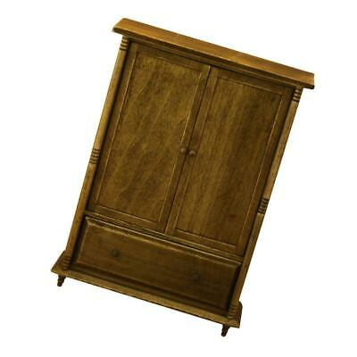 1:12 Dollhouse Miniature Furniture Bedroom Wood Wardrobe Cabinet With Drawer