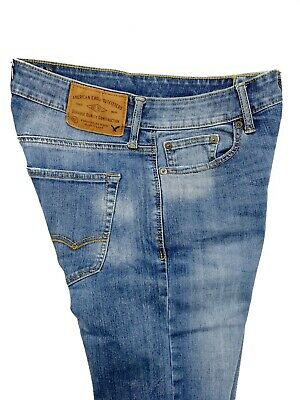 American Eagle Mens 360 Extreme Flex Slim Blue Jeans Faded Low Rise Size 28x30
