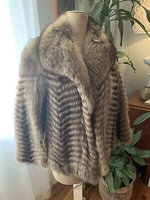 Vintage Silver Fox Coat Size 10-12 (no Tag)