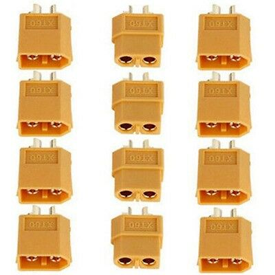 2/10/20/40Pcs XT60 Male & Female Bullet Connectors Plugs for RC Lipo Battery