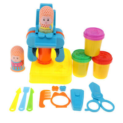 17pcs Haircut Tools Role Pretend Play Playhouse Modeling Clay Doll Kits Toy