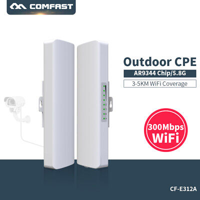 COMFAST 300Mbps 5.8Ghz Outdoor Access Point AP Router Repeater Wifi Extender AU