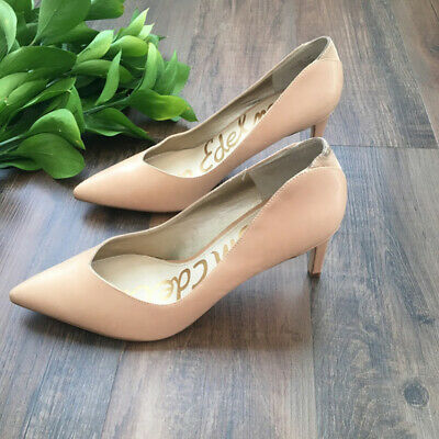 ee42e6ea1 Sam Edelman Women s Orella Nude Leather Dress Pump Pointed Toe Heels Size 10