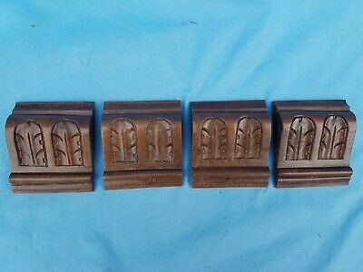 Antique French, Set of 4 Crows / Pillars / Consoles /Walnut Carved by Hand 19 th