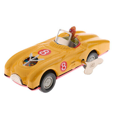 Retro Mechanical Clockwork Wind Up Roadster Car Metal Tin Toy Kids Xmas Gift