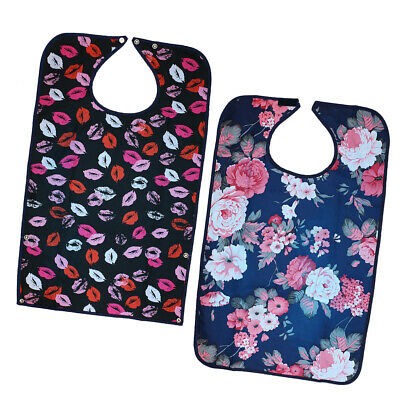 2 x Adults Elder Mealtime Bib Clothing Spill Protector Disability Aid Apron